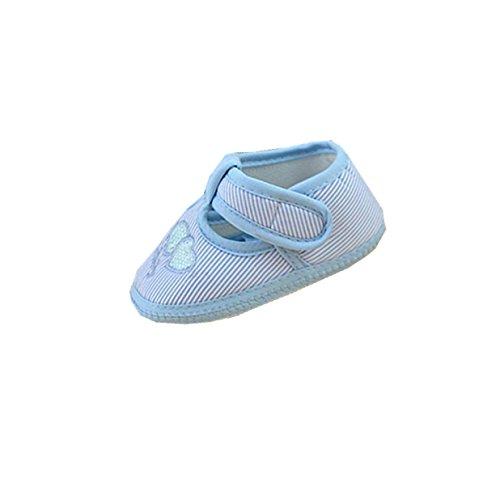 Huhu833 Kinder Mode Baby Schuhe Weiche Sohle Krippe Kleinkind Schuhe Leinwand Sneaker Himmel Blau