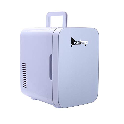 Electric Mini Portable Fridge Cooler & Warmer Portable Fridge Cooler and Warmer Electric Mini Thermoelectric Dual Cooling Warming Digital Plug in Refrigerator (6 Liter / 0.21 Cuft / 8 Can) AC/DC