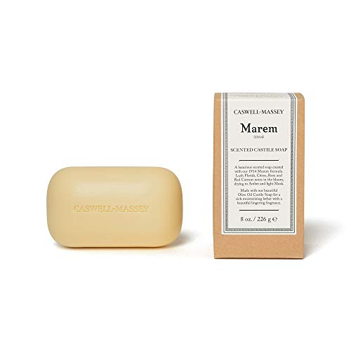 Caswell-Massey Marem Oversized Saddle Castile Soap Bar - Natural Bath Soap With A Lush Floral Fragrance - 8 Oz