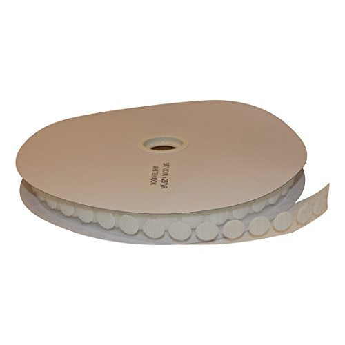 Top FindTape HL74-C Adhesive-Backed Hook-Side Only Coins/Dots: 5/8 in. x 75 ft. (White)/hook-side only [1200 Coins/Roll] free shipping