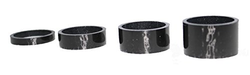 Williams Cycling Carbon Headset Spacer Pack. 1 8'' 5mm, 10mm, 15mm, 20mm by Williams Cycling