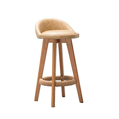 3 DEED Chair Stool - Solid Wood Barstool Bar Restaurant Chair Retro High Stool Solid Wood Creative Chair Adult Home Stool