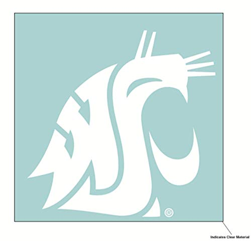 Wincraft NCAA Washington State University WSU Cougars 6 x 6 Inch White Decal]()