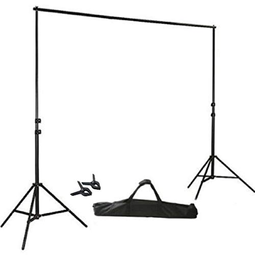 BalsaCircle 8 ft x 10 ft Photo Video Studio Adjustable Backdrop Stand Kit Background Support System Wedding Photography + Free Clips -