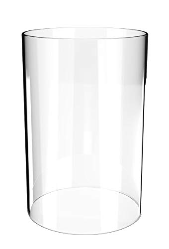(Supcia Borosilicate Glass Lampshade-Clear Glass Cylinder Vase 3.5