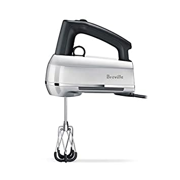 Breville the Handy Mix Scraper Intuitive Ergonomic Control Hand Mixer w Beater IQ Technology – Silver – BHM800SIL