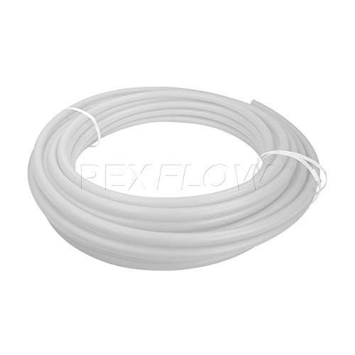 Pexflow PFW-W1300 PEX Potable Water Tubing Non-Barrier Pipe, 1 Inch x 300 Feet, White