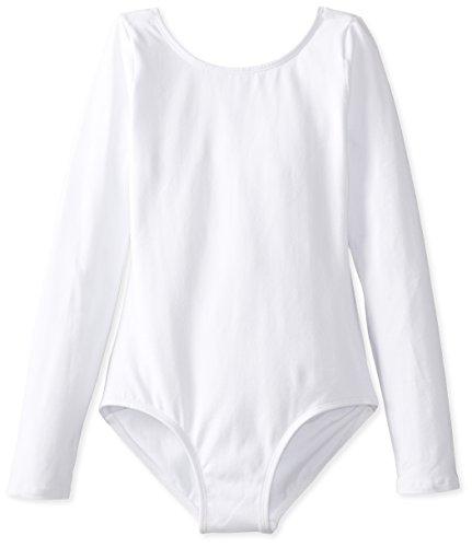 Big Girls O Neck Long Sleeve Leotard One Piece Top Bodysuit Dancewear Costumes