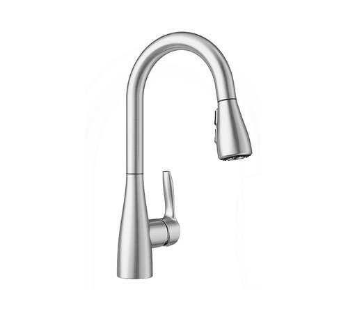 Blanco Artura 442210 Atura 1.5 GPM Bar Kitchen Faucet with Pulldown Spray in Stainless Steel, 14.1875