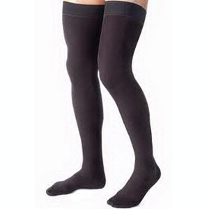 Jobst For Men Thigh High Large, Black, 20-30 mm Hg