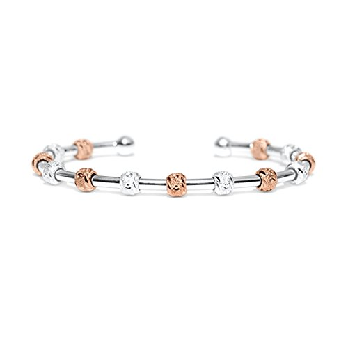 Golf Goddess Stroke Counter Bracelet - Two Tone Silver and Rose - Rose Chelsea