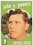 1959 Topps Regular (Baseball) Card# 489 John C. Powers of the Cincinnati Reds VGX Condition