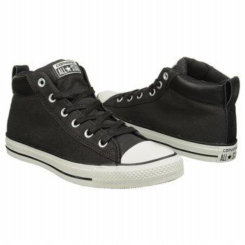 Converse Heren Ct Street Mid Sneakers Zwart / Wit 145422c