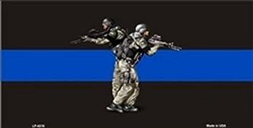Smart Blonde Thin Blue Line Police K-9 Metal Novelty License Plate LP-4217