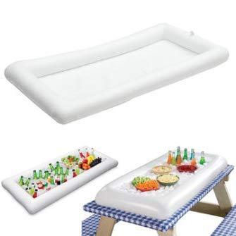 Inflatable Pool Beer Table Dining Outdoor Ice Mat Water Play Food Serving  Pad \ Utensils Utilities