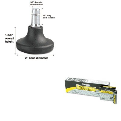KITEVEEN91MAS70179 - Value Kit - Master Caster Bell Glides (MAS70179) and Energizer Industrial Alkaline Batteries (EVEEN91)