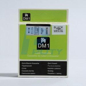 Rhinopro White Heat Shrink Tube - 5 Pack DYMO DM-1 Compatible Heatshrink tube/tape 9mm, Black/White, 3/8