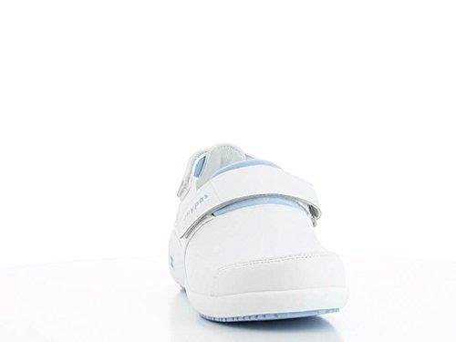 Bleu et Blanche Chaussures de ultraconfortable Salma Travail Blanc 5qEddc8w