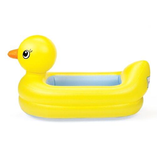 Munchkin gonflable bébé de sécurité jaune Canard Duckie Baignoire Toy Set Bundle New