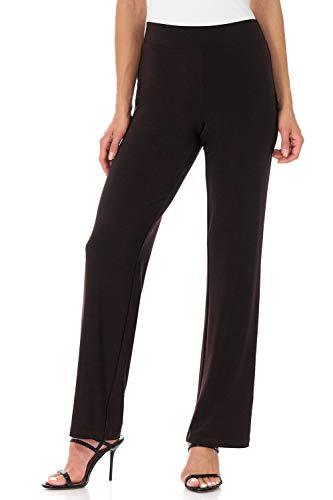 Rekucci Travel in Style - Women's Classic Straight Leg Pant (Medium,Espresso)