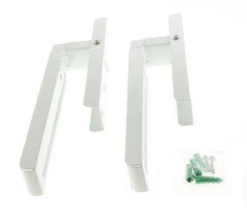 First4Spares Universal ausziehbar Wandhalterungen für alle Marken und Modelle von Mikrowelle (weiß) QUAMWP63