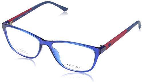 Guess - GU2497, Cat Eye, acetate, women, BLUE RED(090), 55/15/135 (Blue Cat Eye Brille)