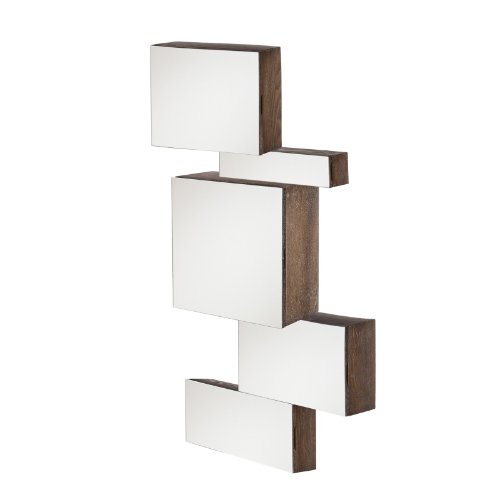 Mirrored Wall Mount Storage Box 5pc Set