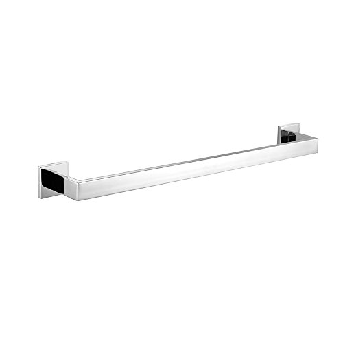 Leyden Bathroom Accessories Chrome Finish Stainless Steel Material Towel Holder Racks Bar (Chrome Bathroom Towel Rack)