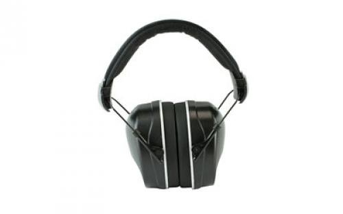 Radians Nrr 34 Folding Slim Cup Earmuff with Extra Plugs, Black by Radians