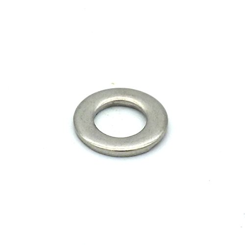 TOPINSTOCK M5 x 10mm Stainless Steel Flat Washer for M5 Screw Pack of 100 (M5 x 10mm x 1mm)