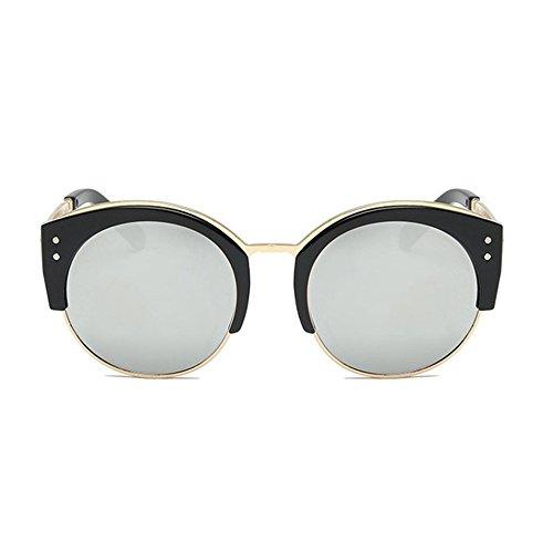 Aoligei La mode hommes et femmes lunettes de soleil rétro personnalité tendance lunettes de soleil rondes qrNyIL