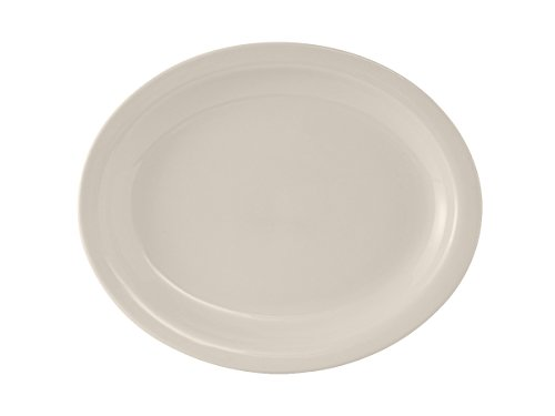 Tuxton TNR-013 Vitrified China Nevada Oval Platter, 11-1/2