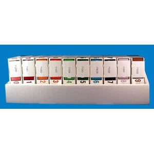 1''H x 1-1/4''W Assorted Tab Products & Smead Compatible Numeric Label Kit (10 Rolls/Set) - TBBS-71010