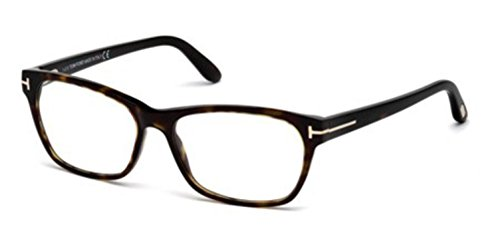 TOM FORD Women's TF 5405 052 Dark Havana Clear Butterfly Eyeglasses - Butterfly Ford Eyeglasses Tom