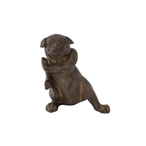 Time Concept Laid Back Animal Bulldog Door Stopper Home Decor - Black/Gray by Time Concept
