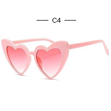 1a723d5e25f UVLAIK Heart Sunglasses Women brand designer Cat Eye Sun Glasses Retro Love  Heart Shaped Glasses Ladies Shopping Sunglass UV400 C4  Amazon.in  Beauty