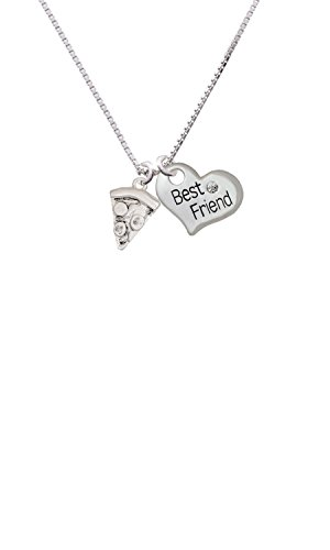 Pizza Slice - Best Friend Heart Necklace
