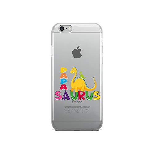 iPhone 6/6s Pure Clear Case Crystal Clear Cases Cover Funny Papasaurus Dinosaur Day Ts Transparent