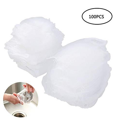 HXZX 100pcs Disposable Garbage Bag Sink Drain Hole Mesh Trash Filter Bag Rubbish Waste Bin Garbage Bags Kitchen…