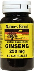 Nature's Blend Ginseng 250 mg 50 Capsules (Capsules Ginseng 50)
