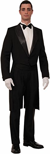 Forum Novelties Men's Vintage Hollywood Formal Tailcoat Tuxedo Costume, Black, X-Large -