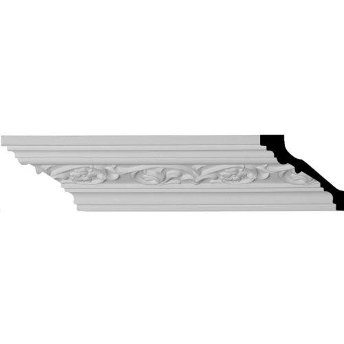 "Ekena Millwork MLD03X03X04ME-CASE-8 Medway Crown Moulding (8-Pack), 3""H x 3 3/8""P x 4 1/2""F x 94 1/2""L, Factory Primed"