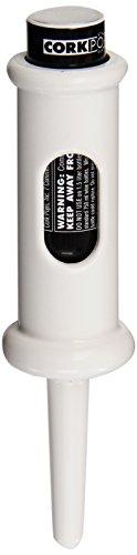 Cork Pops Original Wine Bottle Opener, White