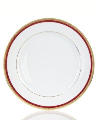 Charter Club Dinnerware, Red Rim Dinner Plate
