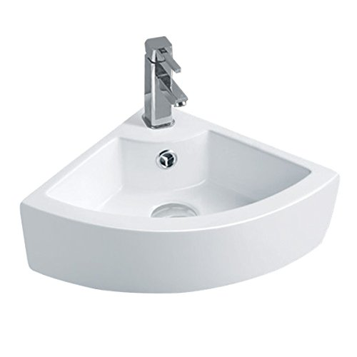 Small Vessel Sink White China Corner Above Counter | Renovator's Supply by Renovator's Supply