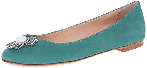 kate spade new york Women's Wanda Ballet Flat, Turquoise, 9 M US