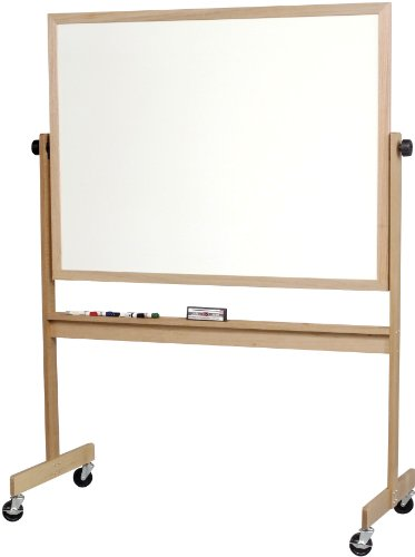 BestRite Deluxe Reversible Dura-Rite Markerboard with Light Oak Wood Frame (668WG-HH)
