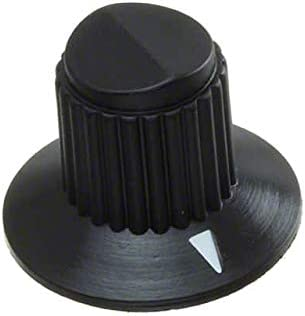 Pack of 10 KNOB KNURLED W//SKRT 0.157 PLAST