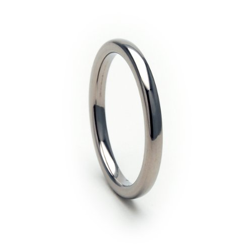 The Jewelry Source Titanium Wedding Band USA Made Titanium Rings Comfort Fit Ring