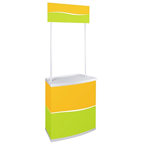 Yescom Portable Promotion Counter Table Foldable Booth Kiosk Trade Show Display Banner Stand